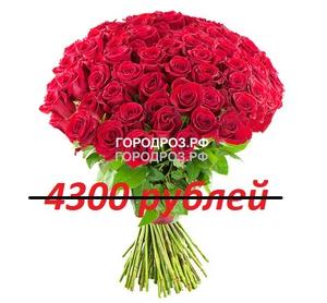 Букет из 43 красных роз