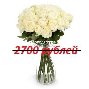 Букет из 27 белых роз