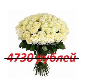 Букет из 43 белых роз