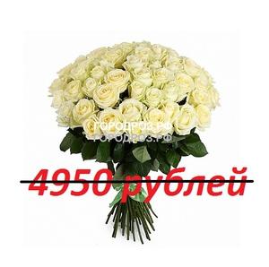 Букет из 45 белых роз