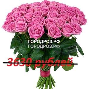 Букет из 33 розовых роз