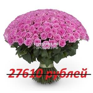 Букет из 251 розовой розы