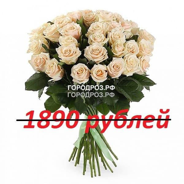 Букет из 21 нежно-розовой розы