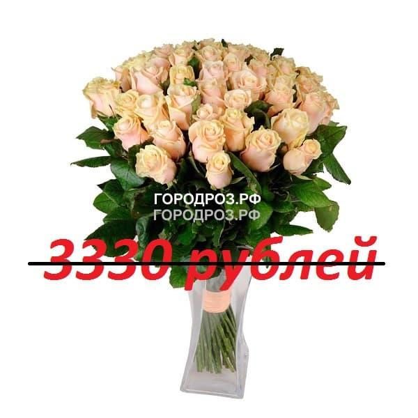 Букет из 37 нежно-розовых роз