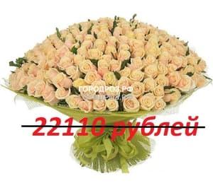 Букет из 201 нежно-розовой розы