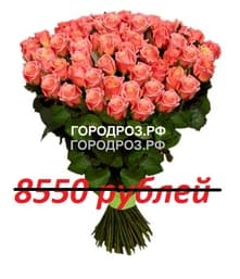 Букет из 95 персиковых роз