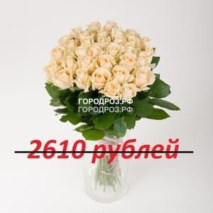 Букет из 29 кремовых роз