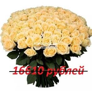 Букет из 151 кремовой розы