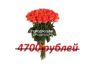 Букет из 47 коралловых роз