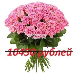 Букет из 95 розовых роз