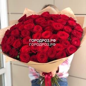 Букет из 55 красных роз