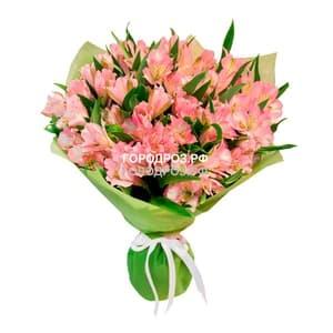 Букет из 19 розовых альстромерий