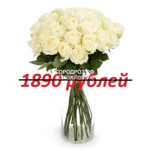 Букет из 21 белой розы