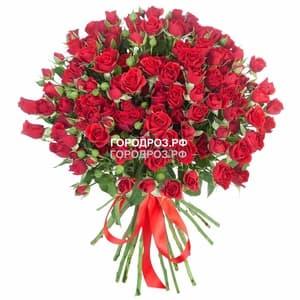 Букет из 39 красных кустовых роз