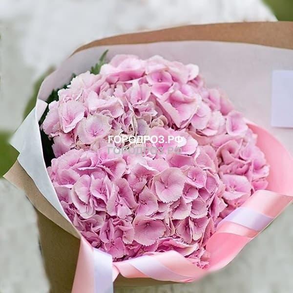 Букет из 7 розовых Гортензий