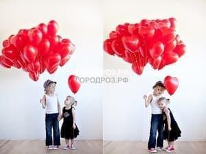 Шар в виде сердца красный