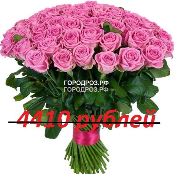Букет из 49 розовых роз