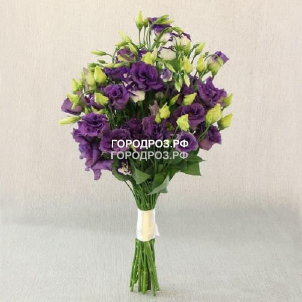 Букет из 19 фиолетовых Эустом