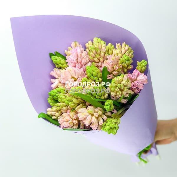 Букет из 19 розовых Гиацинтов