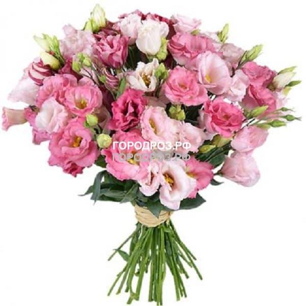 Букет из 51 розовой Эустомы