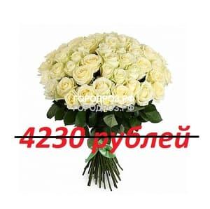 Букет из 47 белых роз