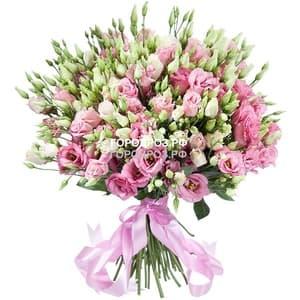 Букет из 101 розовой Эустомы