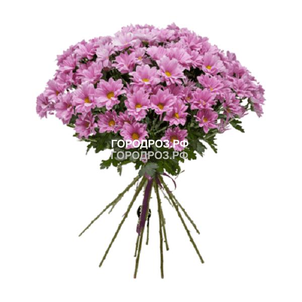Букет из 9 розовых кустовых хризантем