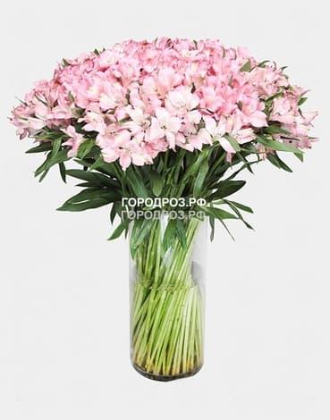 Букет из 39 розовых альстромерий