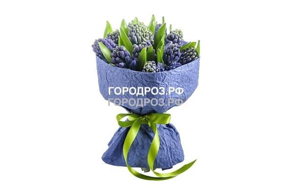 Букет из 9 фиолетовых Гиацинтов